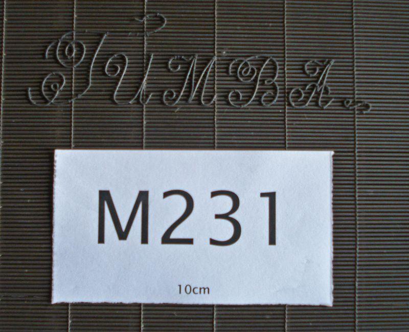B231d Tumba lettering