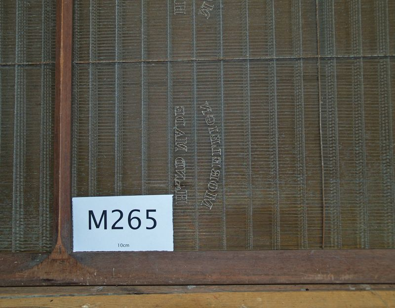 M265b Morleign Hand Made Laid - one panel with damaged watermark