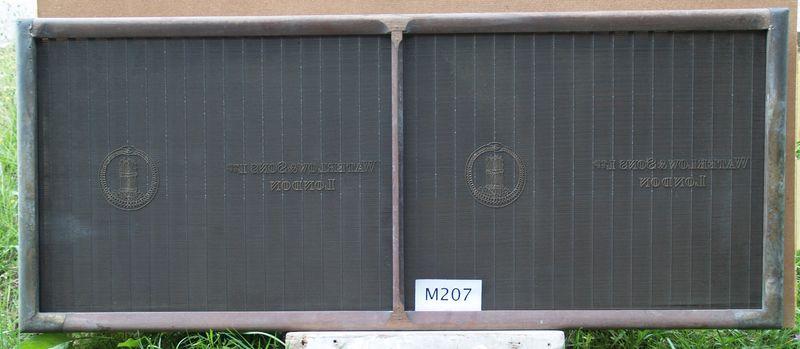 M 207 a Waterlow & Sons Ltd London - 2 sheet mould
