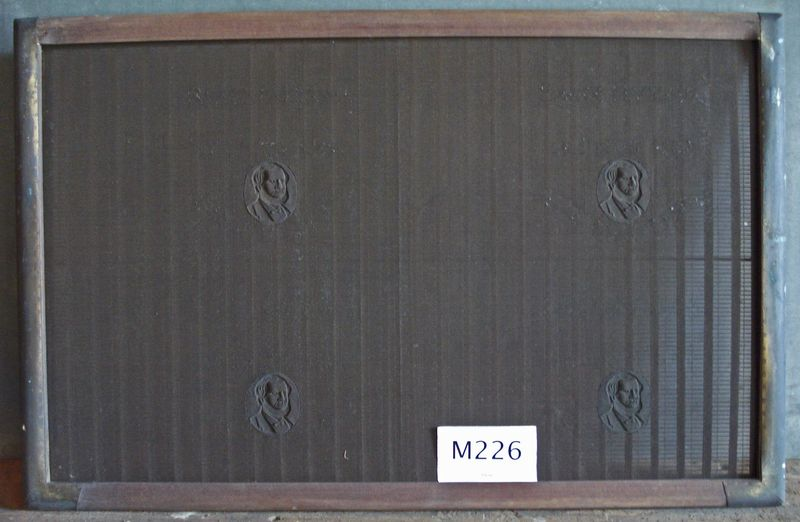 M226d Single mould showing four watermarks