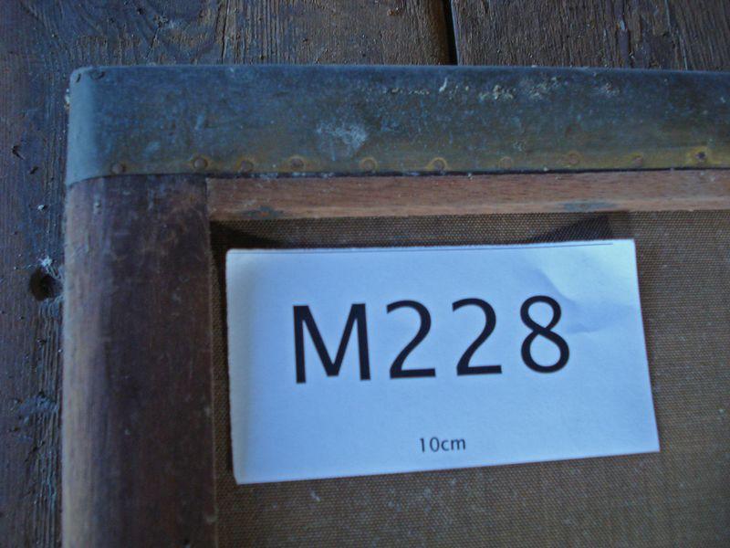 M228f - Deckle detail showing blocking slip