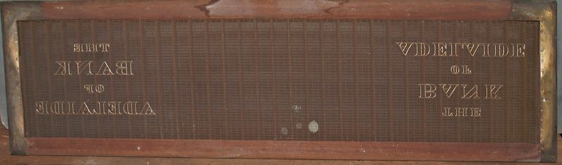 M229a Bank of Adelaide whole mould