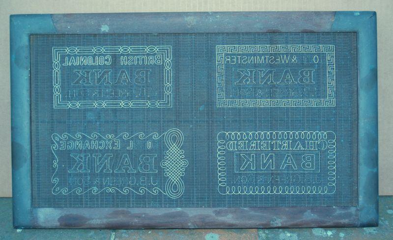 M261a J B Green & Son bank note sampler - full mould