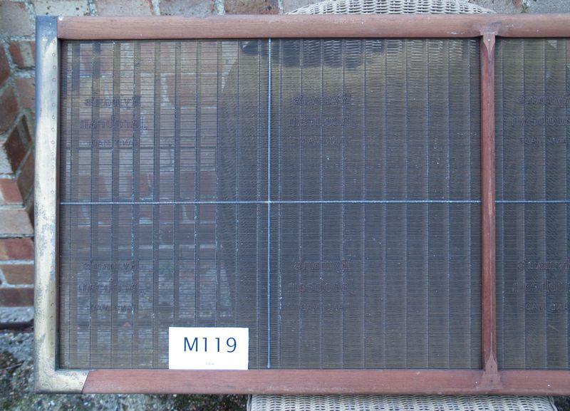 M119b Ryman's Jacobean full sheet, half mould