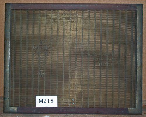 M218a J Whatman 1921 laid
