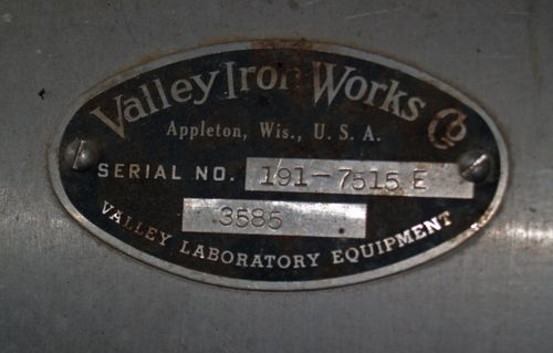 Valley Beater - ID Plate 1